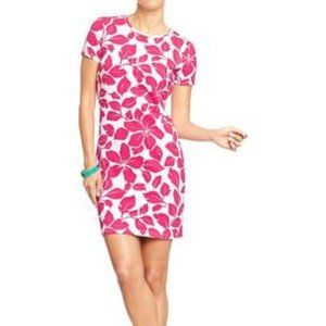 Pink Fitted Tee  Floral Dress  NWOT Old Navy